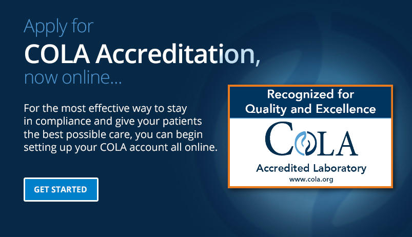 Apply for COLA Accreditation Online